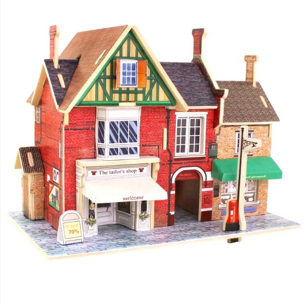 Đồ chơi lắp ráp gỗ 3D Mô hình Cửa hàng Thời Trang F134