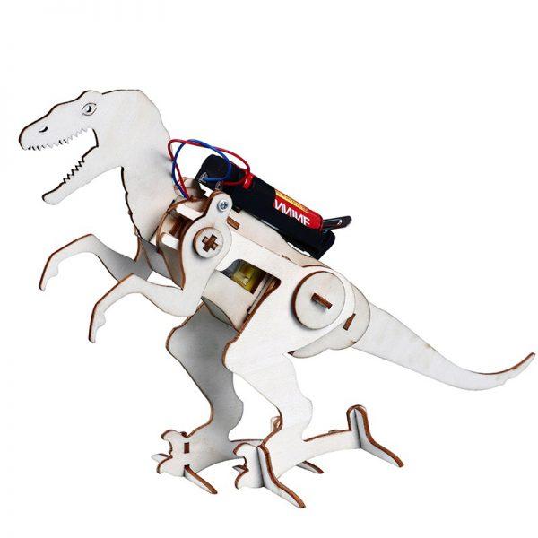 Bộ đồ chơi khoa học tự làm robot tự động khủng long bạo chúa bằng gỗ – DIY Wood Steam