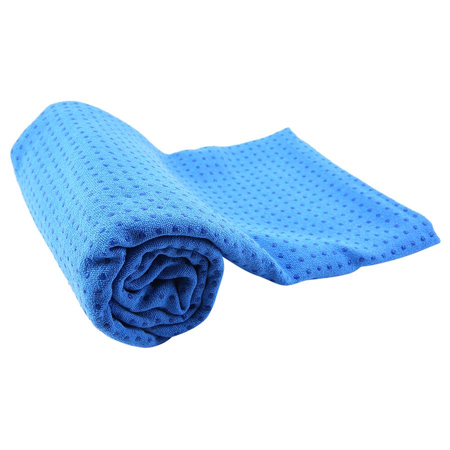 Khăn trải thảm yoga cotton hạt cao su non Senior - Xanh dương