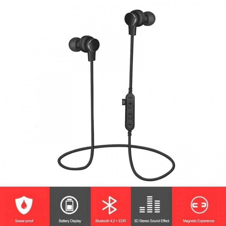 Tai nghe Bluetooth Wireless tai nghe nhét tai PKCB T1 PF150 thẻ nhớ 4