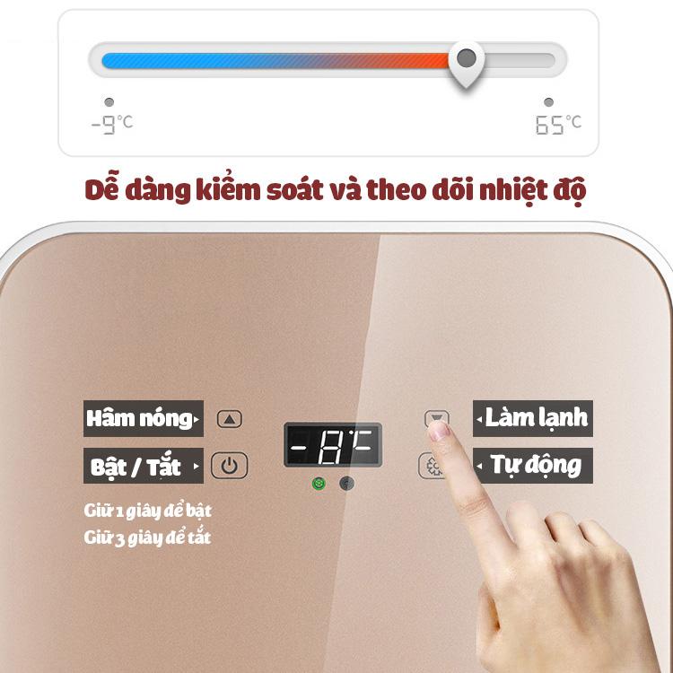 Tủ lạnh mini kèm hâm nóng 22 lít ST-22L hiển thị nhiệt độ