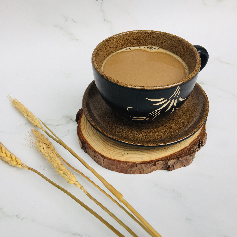 BÁT TRÀNG LY CỐC CAFÉ - TÁCH CÀ PHÊ, TRÀ – LY CỐC CAPUCHINO - BỘ TÁCH CÀ PHÊ GỐM SỨ CAO CẤP MÀU NÂU HỌA TIẾT VẼ BÔNG LÚA