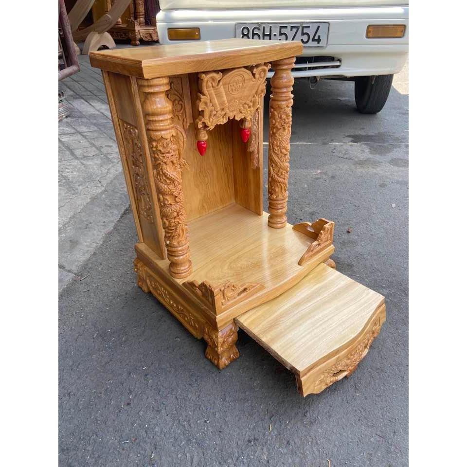 Ông địa thần tài gỗ gõ đỏ 40cm