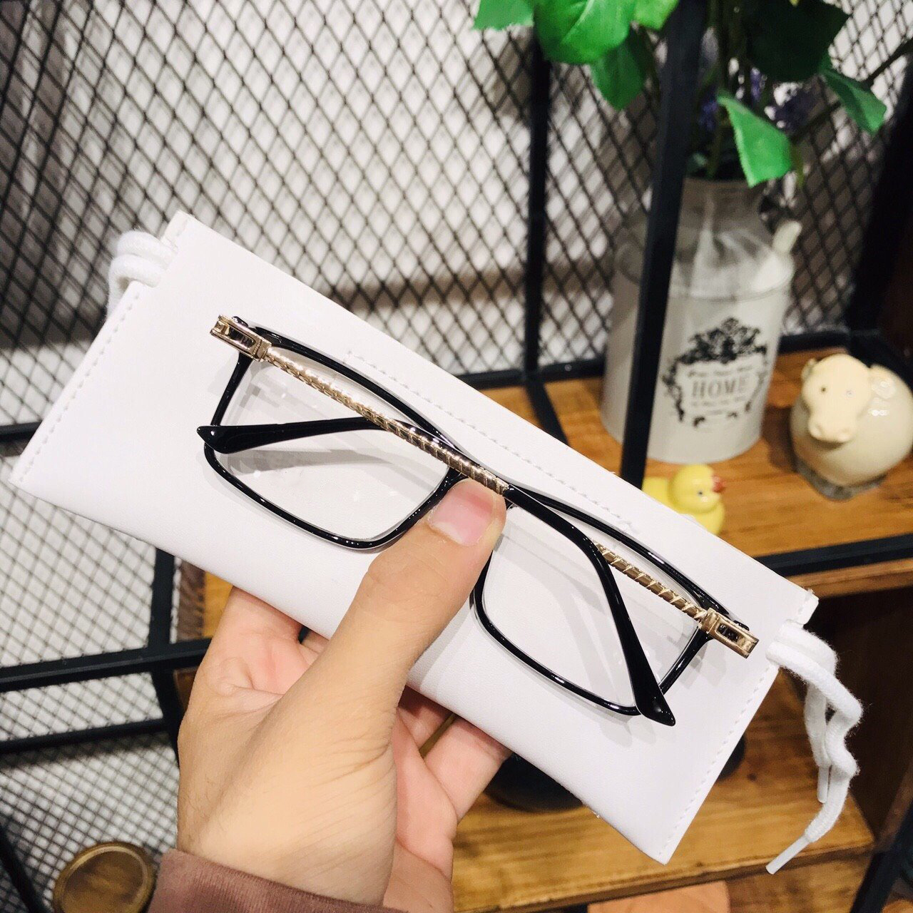 Mắt kính giả cận cao cấp gọng kim loại dành cho cả nam và nữ Jun Secrect FRED8058