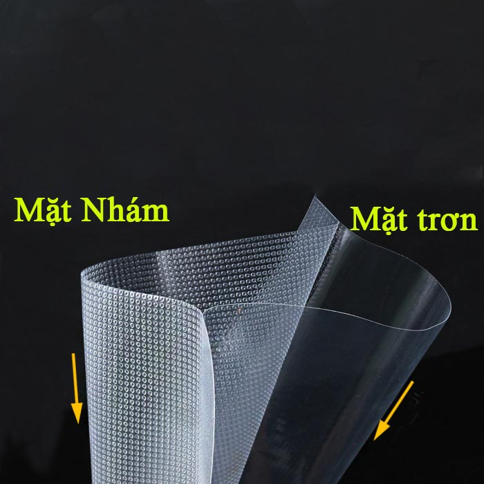 Bộ 100 túi bóng hút chân không 1 mặt nhám - có nhiều size túi kích thước khác nhau - 17x25cm