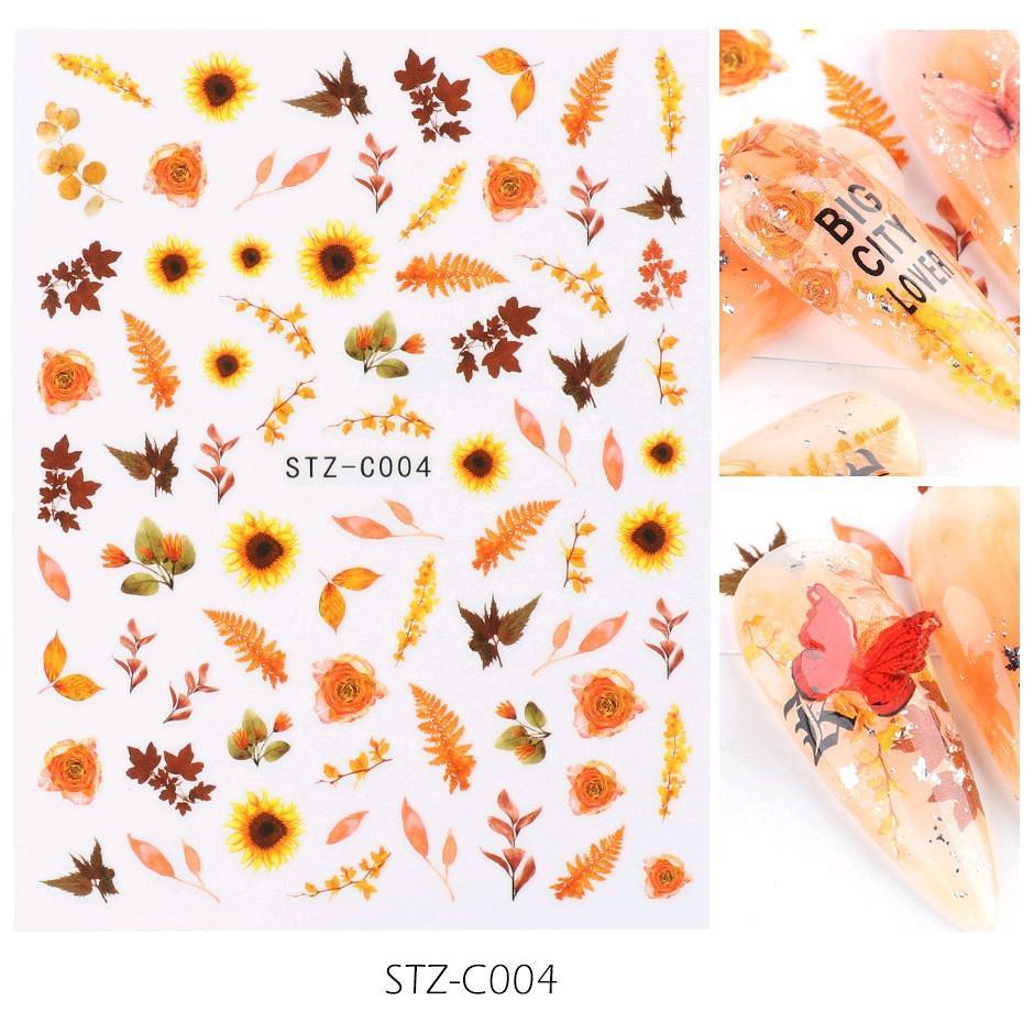 Sticker nails - hình dán móng 3D hoa hướng dương C004