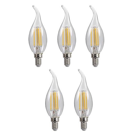 Bộ 5 bóng đèn Led Edison C35 4W hình nến đui E14