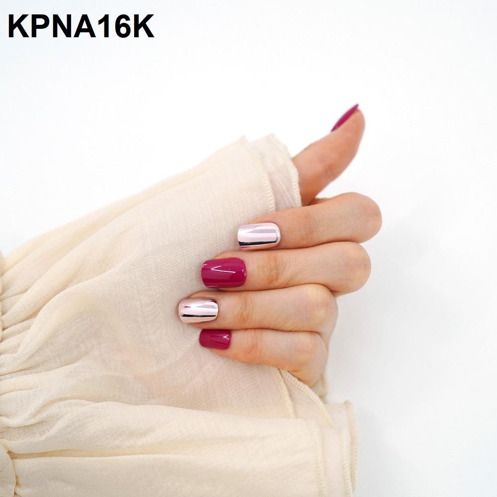 Bộ 30 Móng Tay Gel Dán Press & Go Kiss New York Nail Box - Ruby (KPNA16KA)