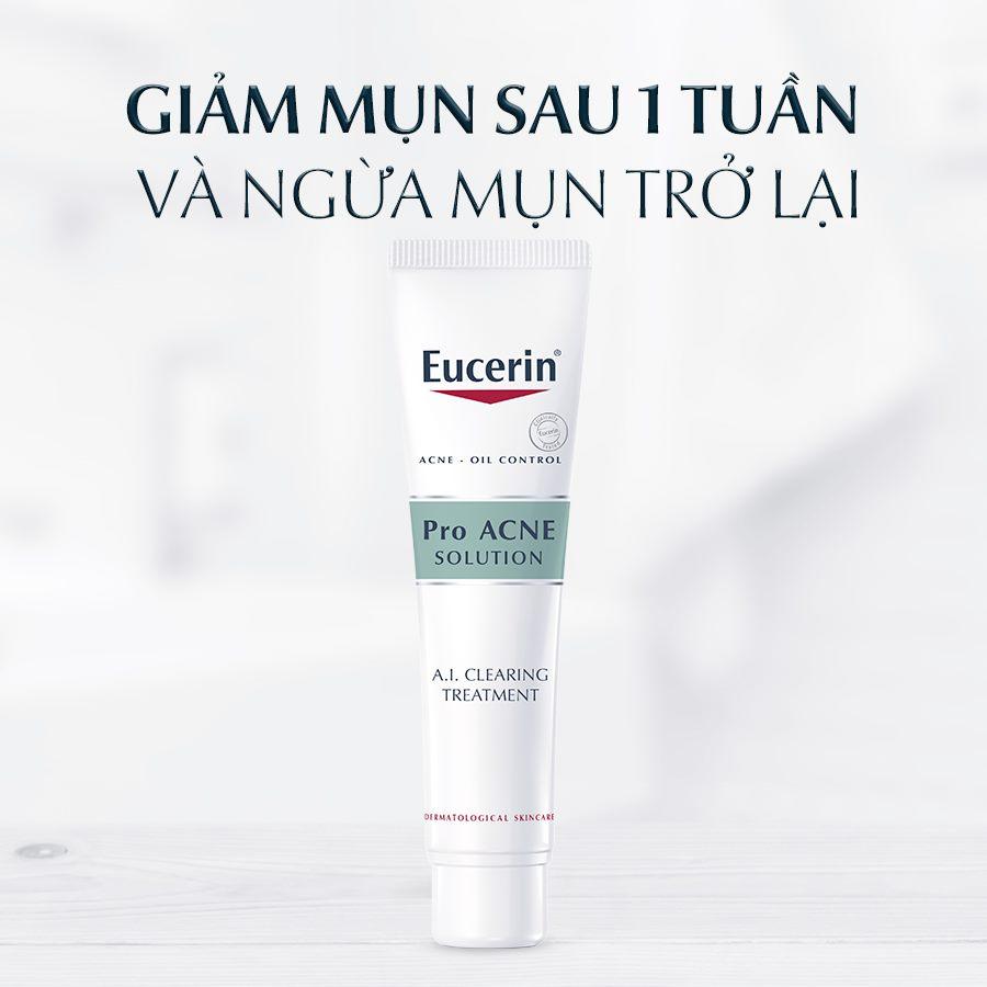 Tinh chất giảm mụn, mờ vết thâm Eucerin ProAcne A.I Clearing Treatment 40ml (Nhập khẩu)