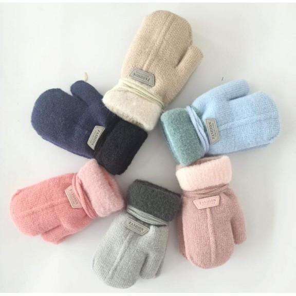 Găng tay trẻ em  Găng tay len dành cho bé trai bé gái mùa đông 1-3 tuổi GT02