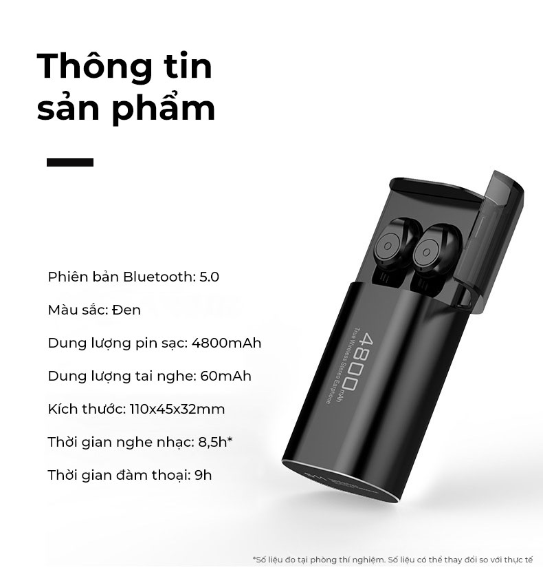 Tai Nghe Bluetooth 5.0 TWS S11 - Chống Nước IPX5 - HÀNG CHÍNH HÃNG SINO