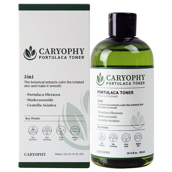 Combo Nước hoa hồng Caryophy Portulaca Toner 300ml + Serum dưỡng ẩm Caryophy Portulaca Ampoule 10ml