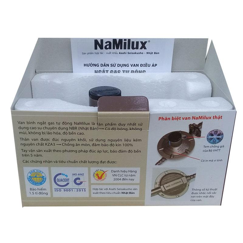 Van áp thấp Namilux NA-337S, sử dụng cho bình gas xám, vàng + tặng dây bọc inox - Hàng chính hãng