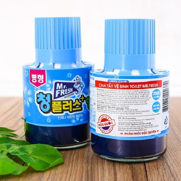 Combo 3 chai tẩy xanh bồn cầu hương ngàn hoa Mr Fresh Korea