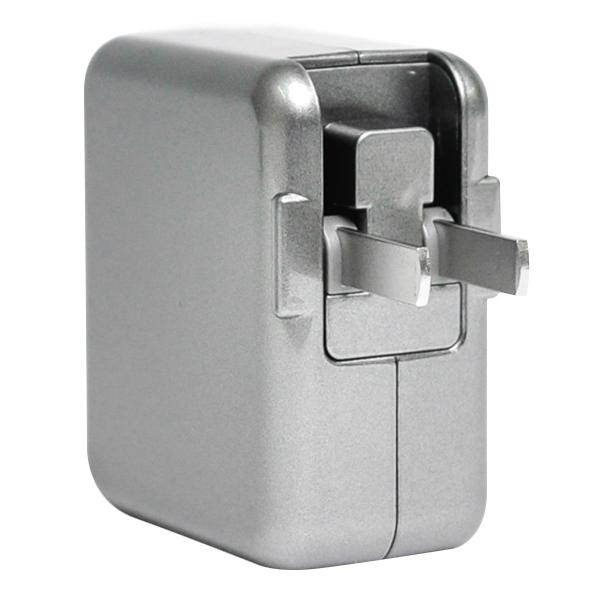 Adapter Sạc Pisen Dual USB iPad Charger 1A/2A TS-FC026 (Silver) - Hàng Chính Hãng