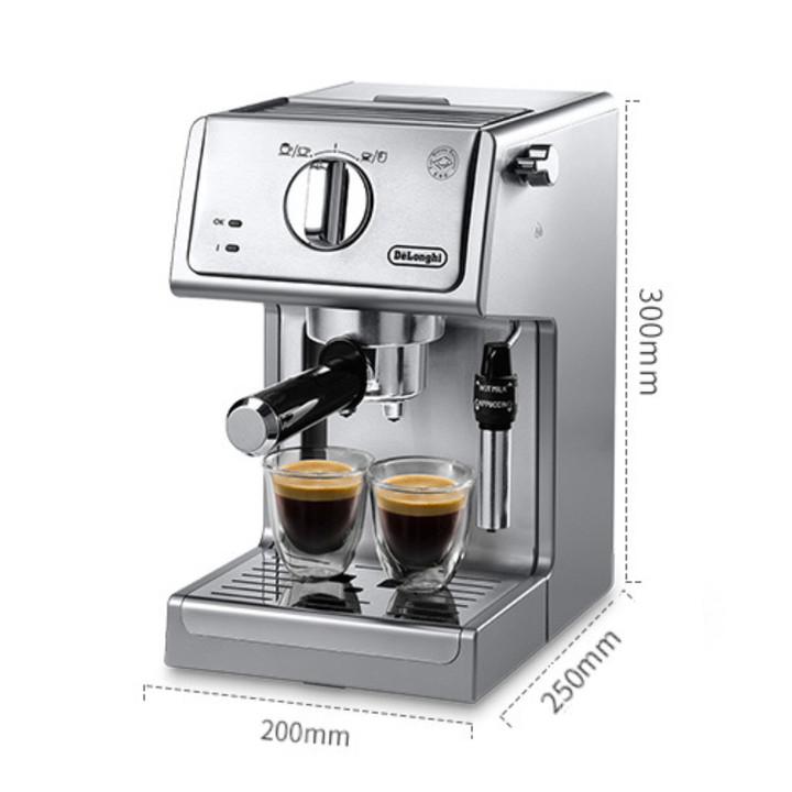 Máy pha cà phê ITALIA, Espresso thương hiệu cao cấp Delonghi - ECP36.31 - Dung tích: 1.1L - Công suất: 1100W - Hàng Nhập Khẩu