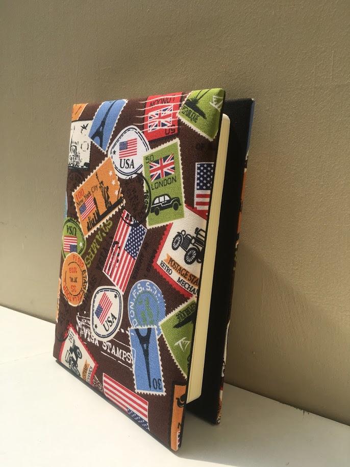 Sổ tay bìa vải handmade từ Chiangmai Thái Lan có thể tự do thay ruột số