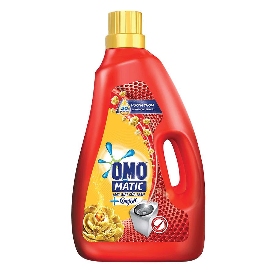 Nước Giặt OMO Matic Comfort Tinh Dầu Thơm Cho Máy Giặt Cửa Trên 2.3Kg