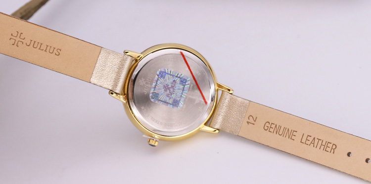 Đồng Hồ Nữ Julius Dây Da JA-1036B (Vàng Nhũ)