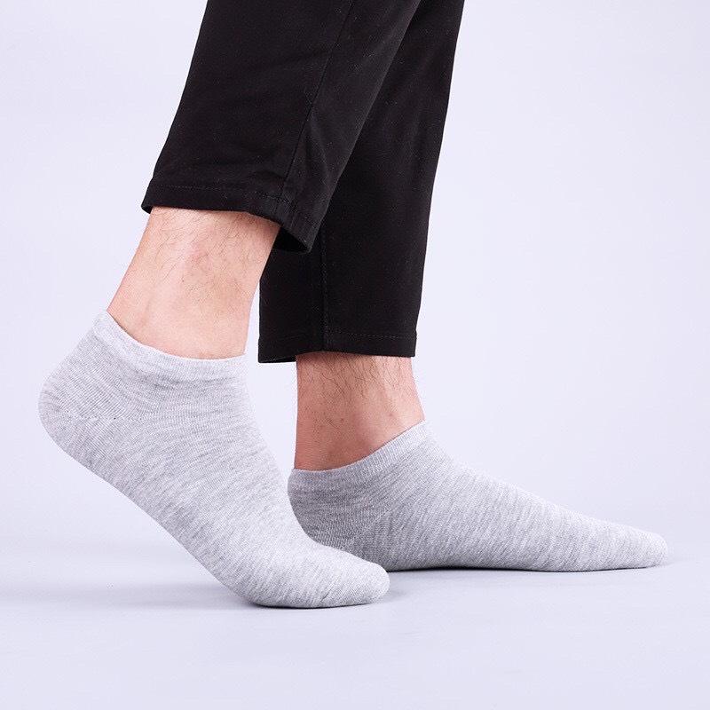 Combo gồm 10 đôi tất vớ cổ ngắn nam nữ khử mùi không hôi chân