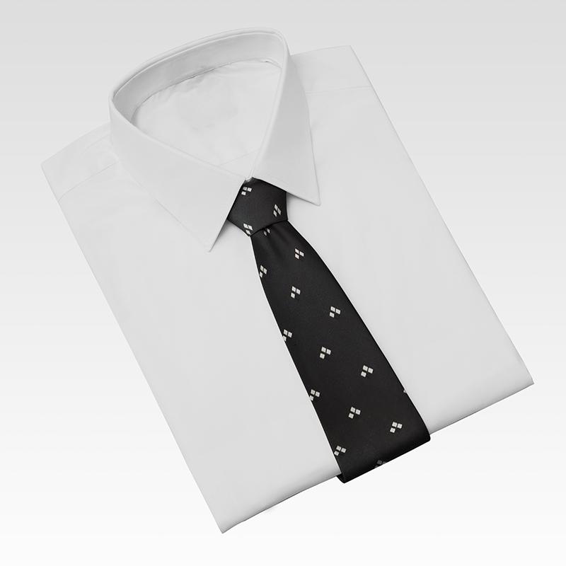 Cà vạt nam, cà vạt bản nhỏ, cà vạt 6cm-Cà vạt lẻ bản nhỏ 6cm màu đenhọa tiết