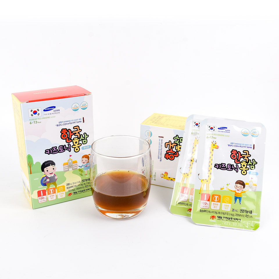 Hộp 30 túi Nước hồng sâm dành cho trẻ em 6-13 tuổi Daedong Korea Ginseng