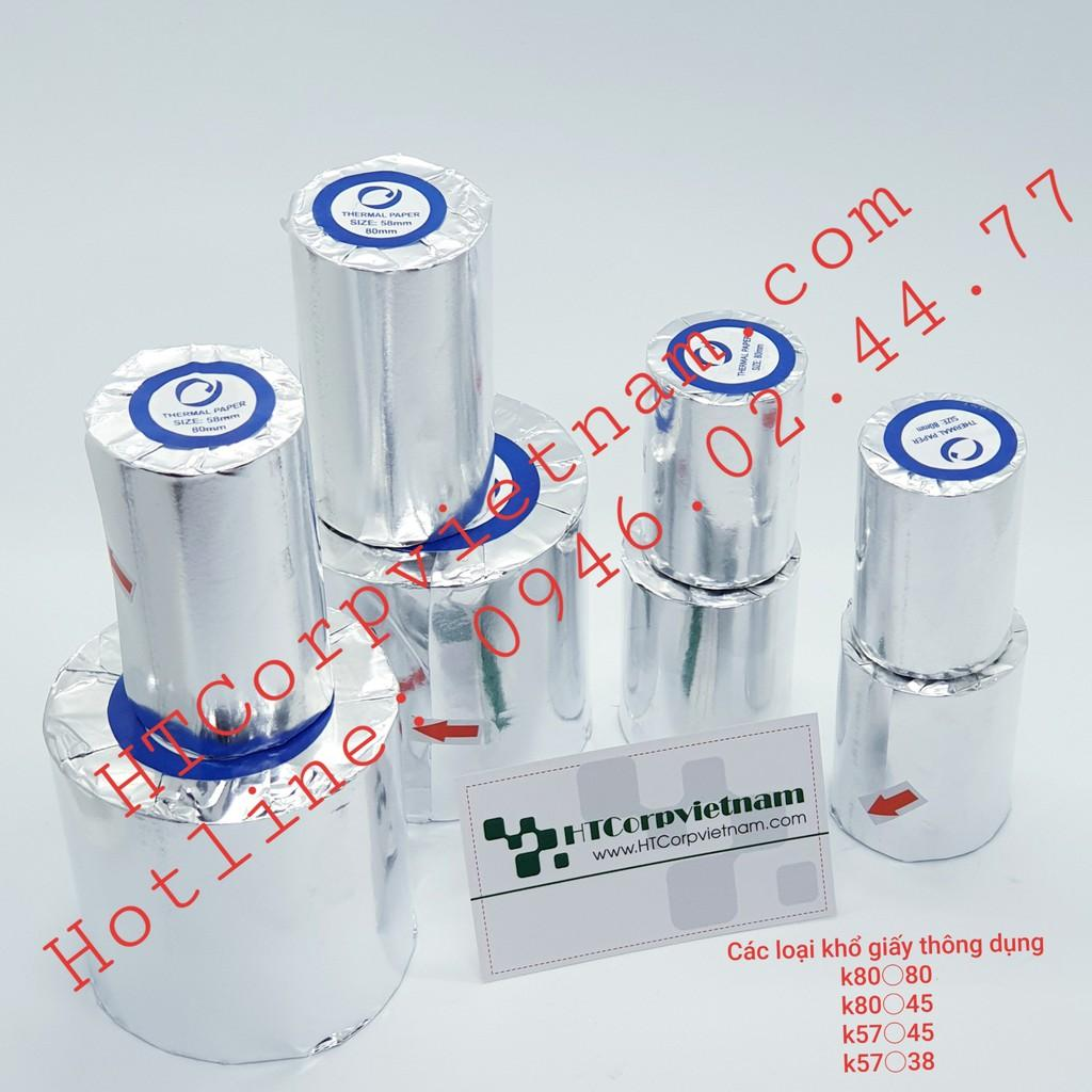 Combo 100 cuộn giấy in bill, giấy in nhiệt K80x45mm