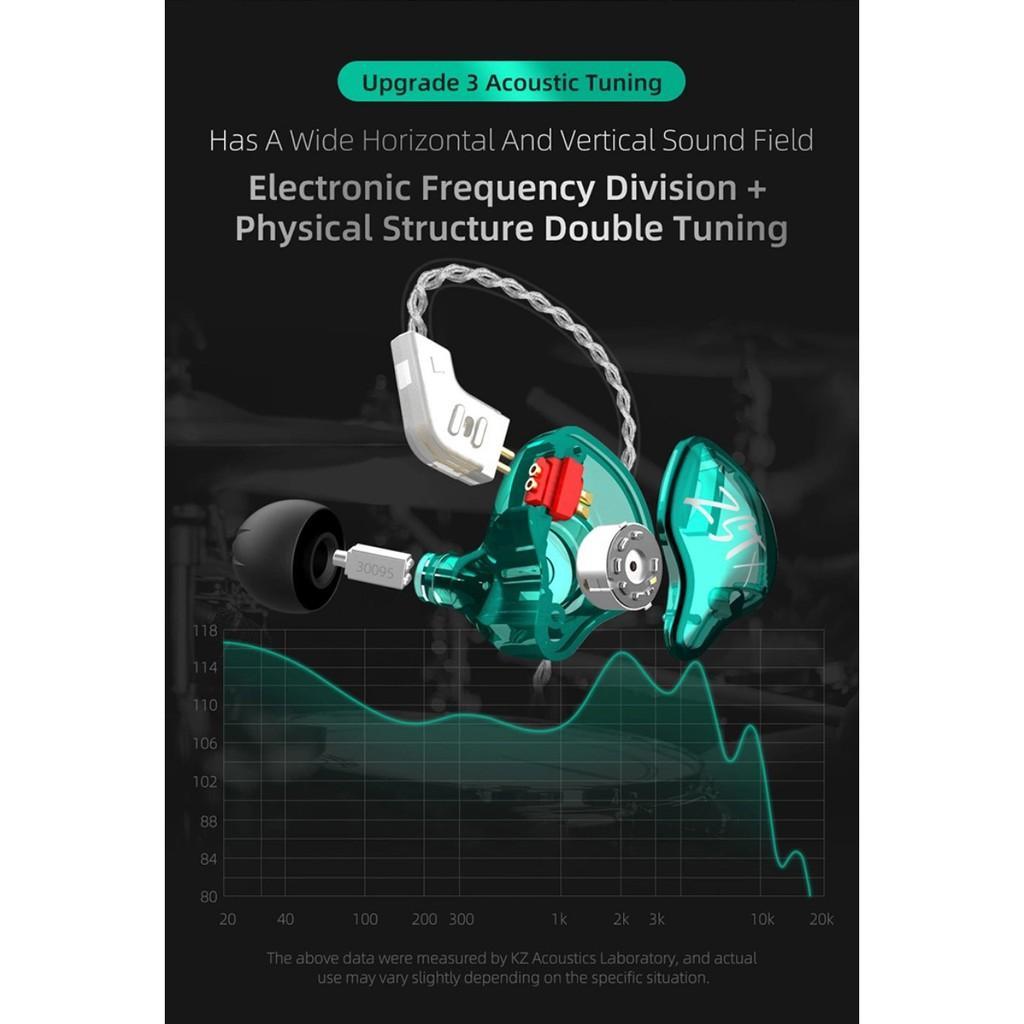 Tai nghe KZ ZST-X, Công nghệ âm thanh hybrid, dây dẫn mạ bạc, Bản nâng cấp rất tốt của ZST
