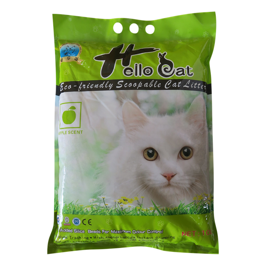 Cát Vệ Sinh Cho Mèo Hương Táo - Hello Cat 10 Lít