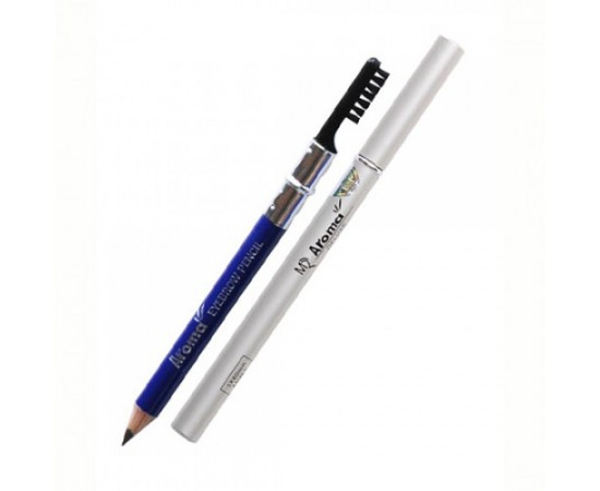 Chì vẽ mày sắc nét Aroma Eyebrow Pencil Hàn Quốc No.11 Balck tặng kèm móc khoá 1