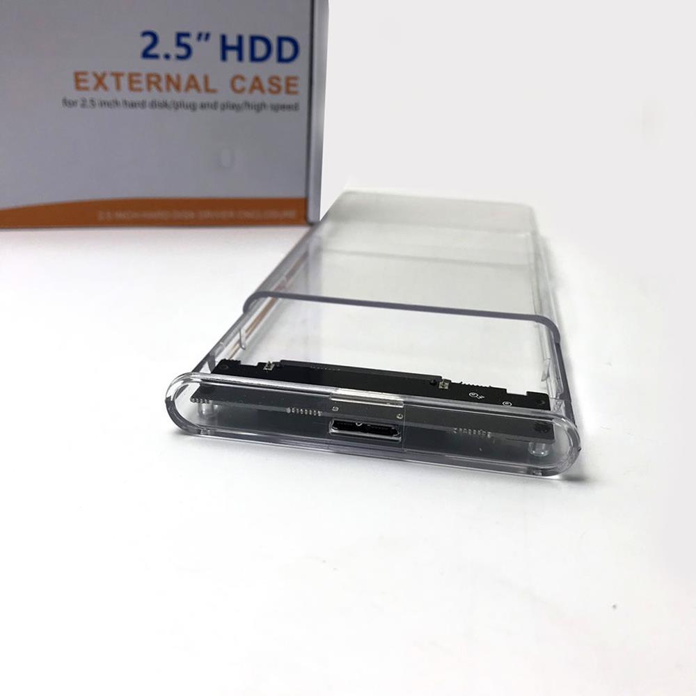 Hộp Đựng Ổ Cứng  Di Động HDD Box 2.5 VINETTEAM USB 3.0 Nhựa Trong Suốt Tốc Độ 5gbs-3297-Hàng Chính Hãng