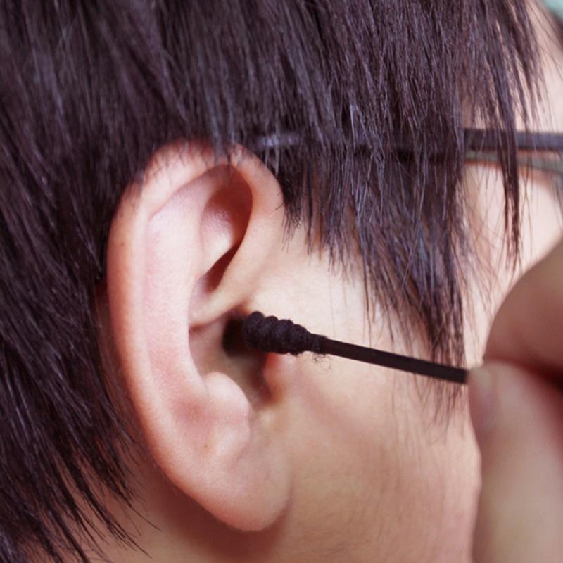 Set 02 Hộp tăm bông lấy ráy tai Than hoạt tính 180P - Hàng nội địa Nhật Bản