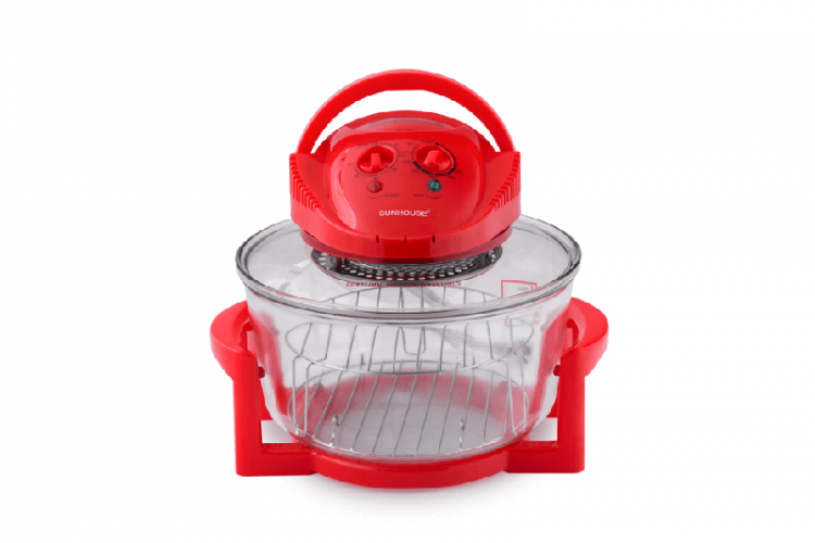 Lò nướng thủy tinh 12 lít SUNHOUSE SH416 đỏ 002