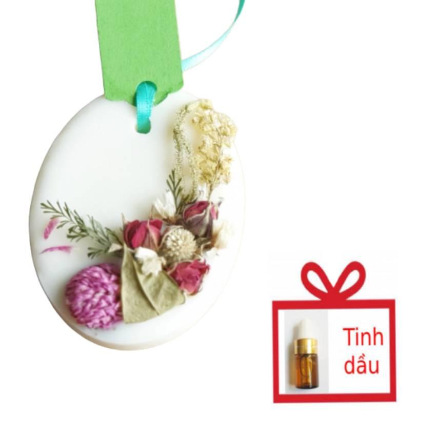 Sáp thơm tinh dầu Lavender làm thơm phòng, quần áo, giúp khử mùi xe ô tô, thanh lọc không khí, làm quà tặng handmade độc đáo, Air Fresheners, tặng chai tinh dầu cùng loại 3ml
