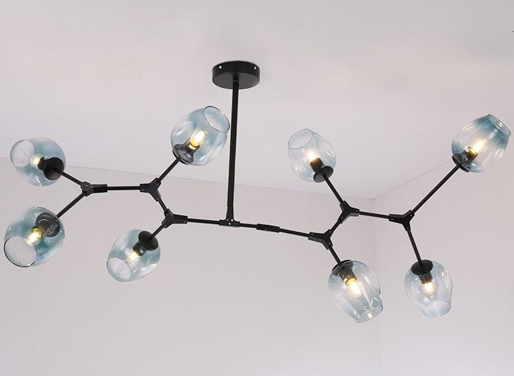 Đèn chùm NOWA hiện đại trang trí nhà cửa, quán cafe - kèm bóng LED chuyên dụng
