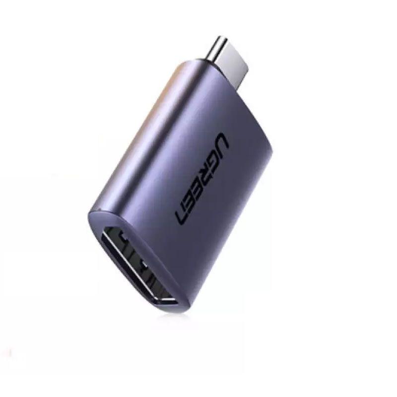 USB type C sang DP  4K 60Hz Đầu đổi vỏ nhôm màu xám Ugreen 70451 us321 Hàng chính hãng