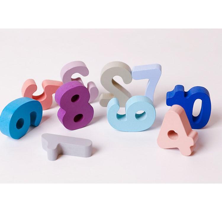 Bảng học đếm, chữ cái, hình khối bằng gỗ 412 - Giáo cụ Montestori, đồ chơi thông minh cho bé
