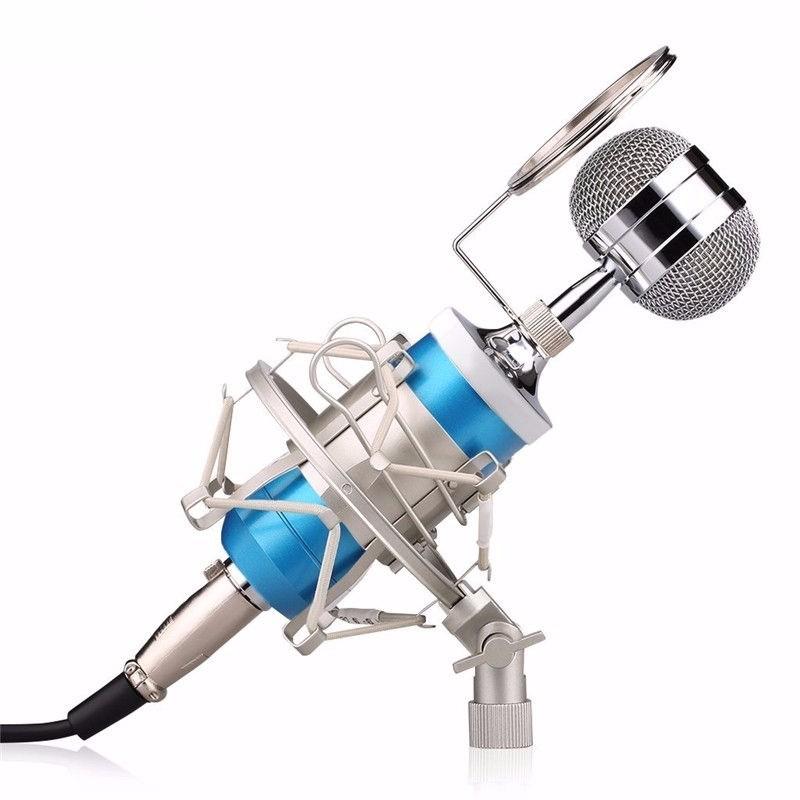 Mic thu âm BM-8000 hát Karaoke chuyên nghiệp trên Máy tính, Điện thoại