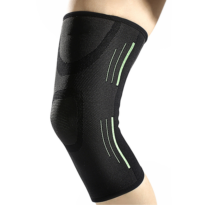 Bó gối thể thao bảo vệ đầu gối co giãn xanh đen AB022