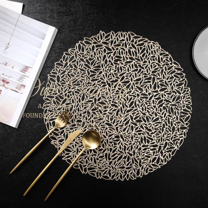 BỘ 2 miếng lót bàn ăn nhựa PVC 3-D-E6-T3035