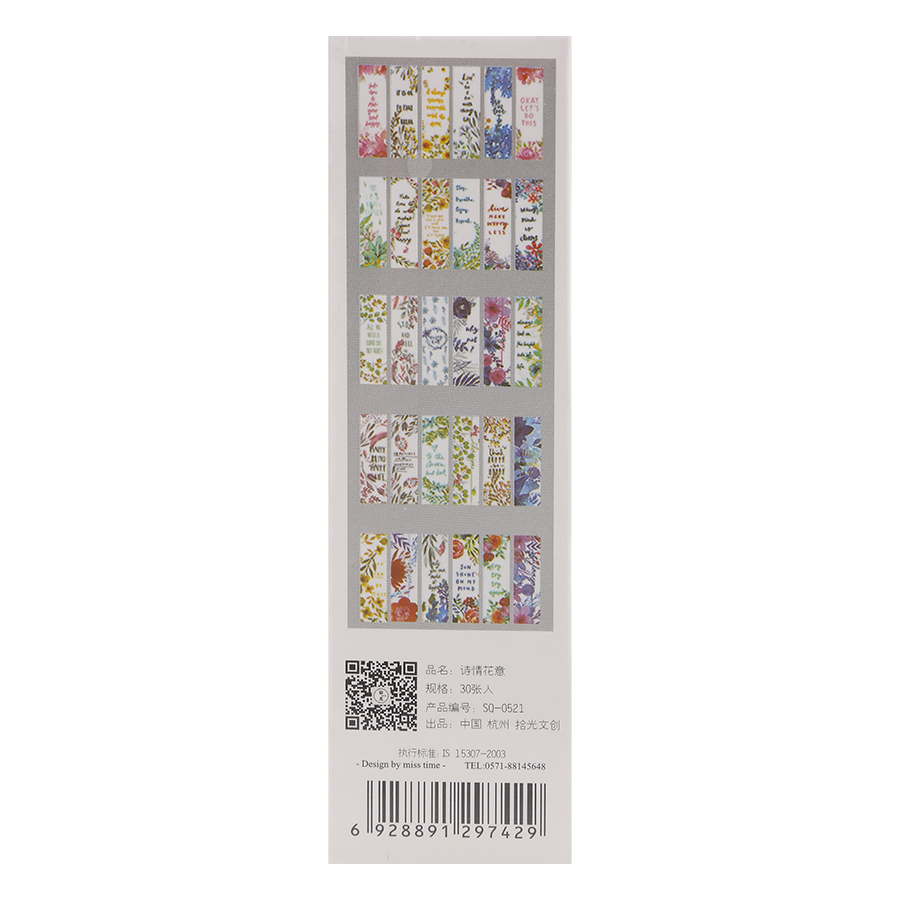 Bộ 30 Bookmark Miss Time