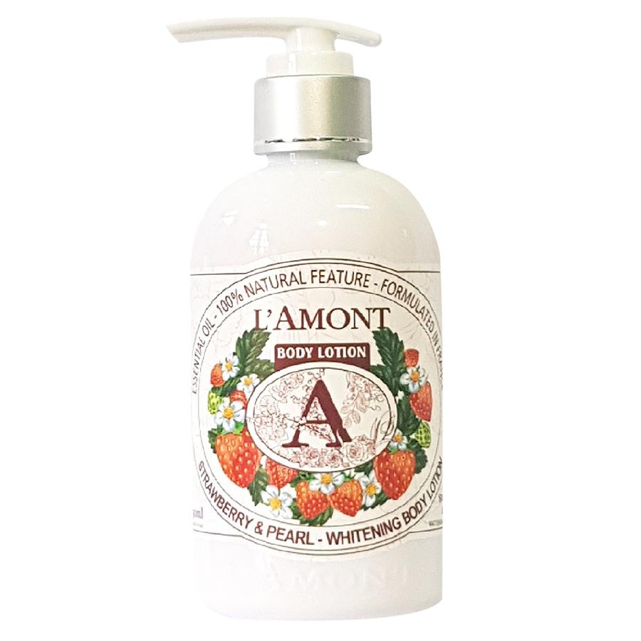 Sữa Dưỡng Thể L'amont En Provence Strawberry Whitening Body Lotion (250ml)