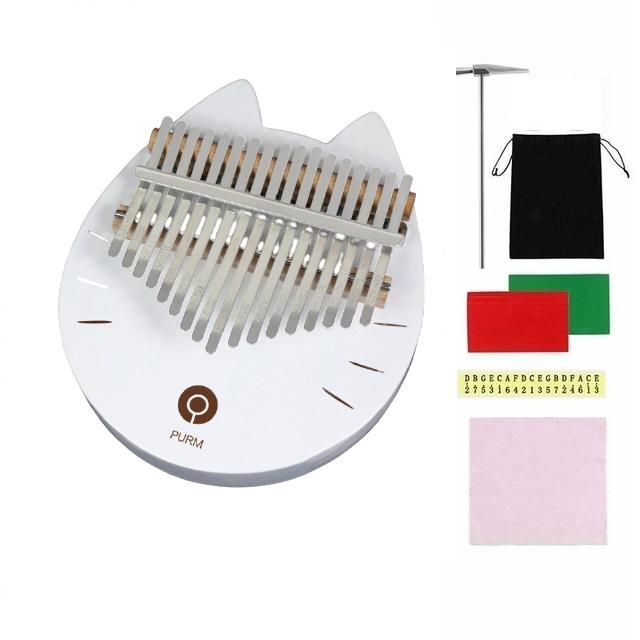 Đàn kalimba 17 phím NEKO-HỒNG PINK-M17 Tặng phụ kiện búa chỉnh âm, stick màu, stick nốt, khăn lau, túi chống sốc