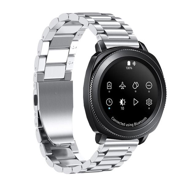 Dây Thép Bạc cho Galaxy Watch 42, Gear Sport (Size 20mm)