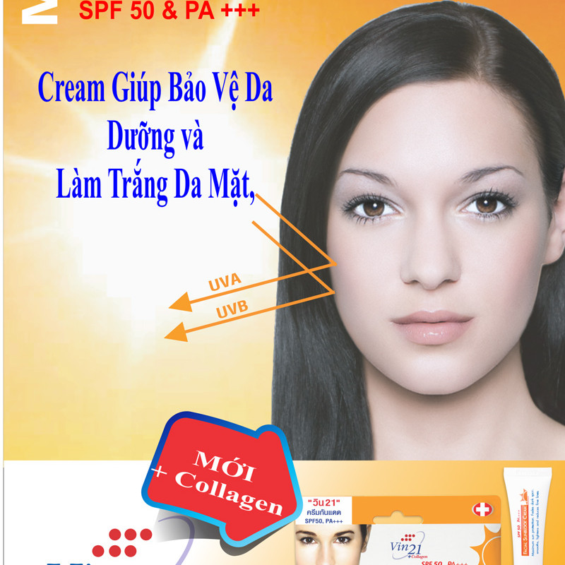 Kem chống nắng Vin21 Facial SunBlock Cream SPF50 PA +++