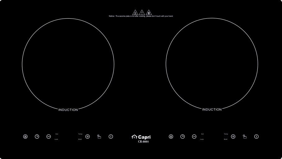 Bếp Điện Từ Đôi Capri CR-800I - Hàng Chính Hãng, Sản Xuất Theo Công Nghệ Tiên Tiến Châu Âu, Tiết Kiệm Điện Và Thời Gian Nấu Tối Ưu