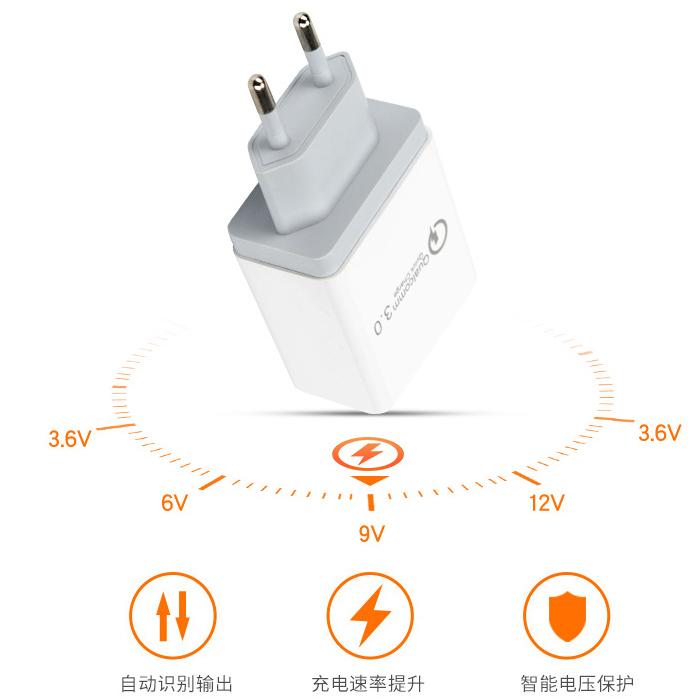 Dock sạc nhanh QC3.0 Chip QualComm 3 cổng USB