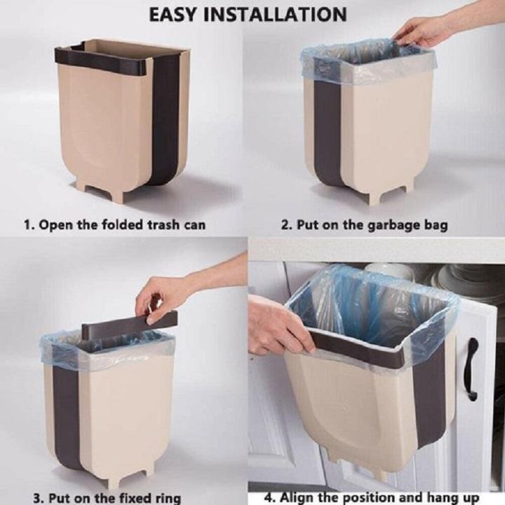 Thùng rác gấp gọn kích thước 29*26.18 tiện lợi có thể để trên oto nhà bếp đa năng .Shop giao mầu ngẫu nhiên