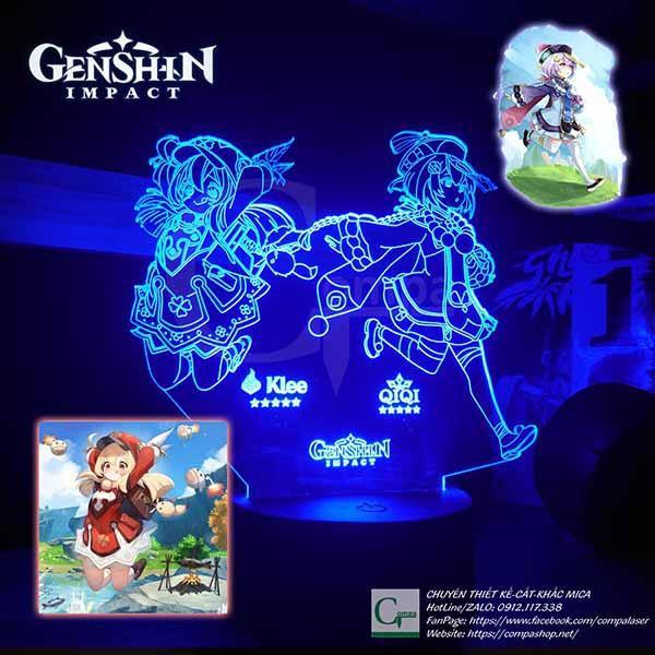 Đèn Ngủ Genshin Impact Klee x QiQi Type 2