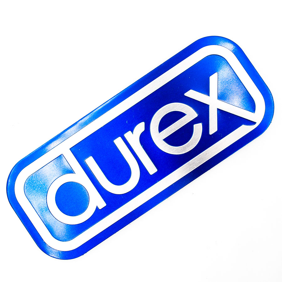 Durex - Sticker metal hình dán kim loại